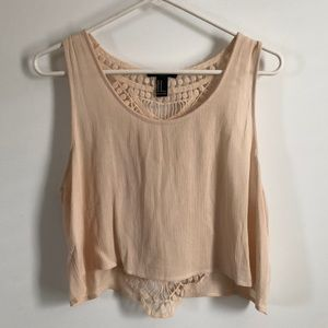 Forever 21 macrame crop top. Size m